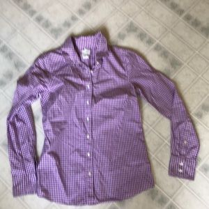 J crew the perfect Shirt Purple Gingham Buttondown